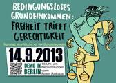 Demonstration am 14. September 2013: Grundeinkommen ist ein Menschenrecht!