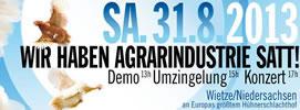 """Wietze-Aktionstage: """"Wir haben Agrarindustrie satt"""""""