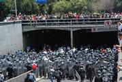 Massendemonstrationen gegen die Privatisierung in Mexiko