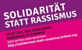 Solidarität statt Rassismus