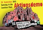 Demonstration: Keine Profite mit der Miete/Wem gehört Berlin?