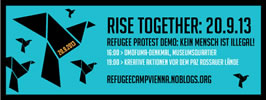 Refugee Protest Demo am 20.09.2013 in Wien