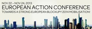 Europäische Blockupy-Aktionskonferenz in Frankfurt am 22. bis 24. November 2013