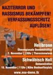 Antifaschistische Mobilisierung nach Heilbronn und Schwäbisch Hall: Gegen Nazis und ihre Helfer!