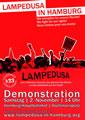 """Großdemonstration von """"Lampedusa in Hamburg"""" am Samstag, 02. November 2013"""