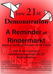 """Reminder of Rindermarkt"" – Demonstration in München am Samstag, 21.06.2014"