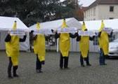 Protest gegen Heldengedenken: Bananen für die Bundeswehr