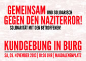09. November 2013: Kundgebung gegen Naziterror in Burg!