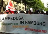 Flüchtlinge und ver.di am Bsp. Lampedusa in Hamburg