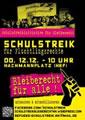 Schulstreik für Flüchtlingsrechte: SCHÜLERINNEN UND SCHÜLER AUS HAMBURG! TRETET FÜR FLÜCHTLINGSRECHTE EIN! SCHULSTREIK AM 12.12!