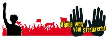 """Initiative """"Hände weg vom Streikrecht"""""""