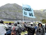 Widerstand gegen das Tagebauprojekt Conga in Cajamarca