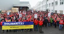 Solidarität mit den streikenden Beschäftigten bei KBA-Mödling