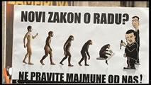 Video: Demonstration in Serbien: Arbeiter_innen sind keine Sklaven