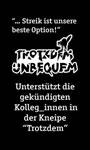 Basisgewerkschaft Nahrung Gastronomie (BNG-FAU) streikt in Dresdner Kneipe