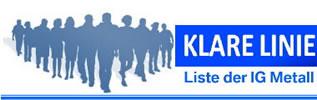 IG Metall-Betriebsräte der Fraktion KLARE LINIE im Berliner BMW-Werk