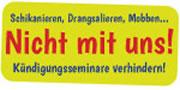 Kundgebung gegen Kündigungsseminare