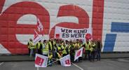 ver.di-Protest gegen REAL-Markt
