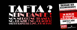 Tafta - Nein danke! Aktions von Front de Gauche Berlin