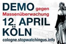 Großdemonstration gegen Massenüberwachung am 12. April 2014 in Köln