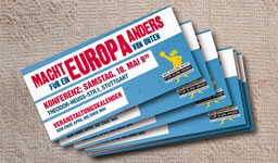 Konferenz: MachtEuropa anders! 10. Mai 2014, Stuttgart