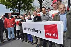 Warnstreiks bei MM Graphia Dortmund GmbH. Foto von Jürgen Seidel