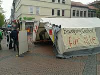 Göttingen: Flüchtlinge und ihre Unterstützer haben in der Innenstadt ein Protestcamp errichtet