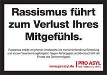 Pro Asyl: Rassismus führt zum Verlust Ihres Mitgefühls
