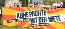 Mieterprotest vor der LEG Hauptversammlung in Düsseldorf