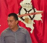 Alvaro Vega, Vorstandsmitglied der CUT (Kolumbien)