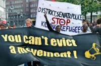 Besetzte Schule in Berlin-Kreuzberg: Friedliche Demo für Flüchtlinge