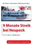 Buch: 9 Monate Streik bei Neupack (Berichte - Interviews - Dokumente)