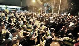 Protestdemonstration gegen WM in Curitiba