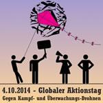 """Kampfdrohnen ächten!"" - Internationaler Aktionstag am 04. Oktober 2014"
