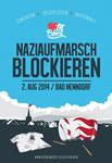 Nazis am 2. August 2014 in Bad Nenndorf blockieren