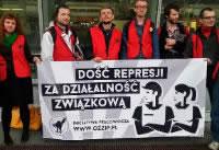 Zerschlagung einer Gewerkschaft am Flughafen Warschau stoppen