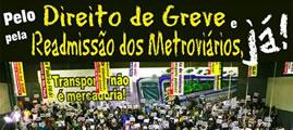 Solidaritätskampagne mit der Gewerkschaft der Metrobeschäftigten von São Paulo