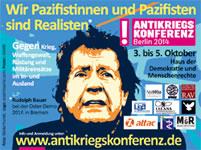 Antikriegskonferenz Berlin2014 vom 3.-5. Oktober 2014