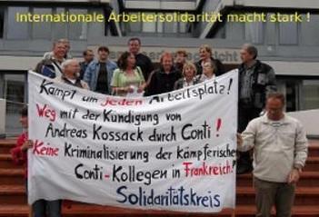 Solidarität mit den Entlassenen bei Conti Dortmund