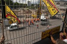 Stuttgart 21: »Bannerparade gegen die Bahn-Show«