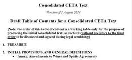 Der Vertragstext von CETA