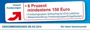 EVG Tarifrunde bei der Deutschen Bahn 2014