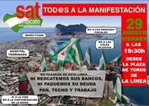 Aufruf der andalusischen SAT am 29.8.2014 in Gibraltar gegen die Spekulations-Sonderzonen zu demonstrieren