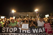 Am Samstag, 16. August demonstrierten zwischen 10 und 15.000 Menschen in Tel Aviv