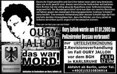4.9.14 um 12:00 Uhr BGH-Urteil in Karlsruhe - Oury Jalloh-DAS WAR MORD