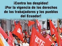 Am 17. September 2014 in Ecuador: Gewerkschaftsverbände, soziale Organisationen, Indigene: Gemeinsam gegen neues Arbeitsgesetz
