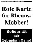 Solidarität mit Sebastian Cano von Rhenus Logistik