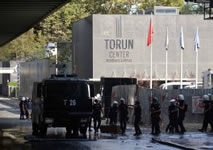 Torunlar Center: Ten workers were killed at a construction site in Istanbul when an elevator carrying them suddenly plunged to the ground late on Sept. 6. 2014