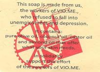 Vio.Me-Arbeiter beginnen mit dem internationalen Vertrieb solidarischer  Produkte: Seife