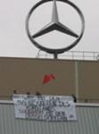 Solidaritätsaktion im Bremer Mercedes Werk gegen den geplanten Arbeitsplatzabbau im Düsseldorfer Mercedes Werk